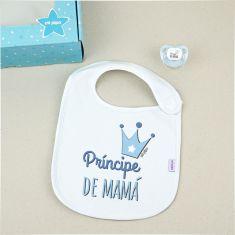 Cajita Babero + Chupete Príncipe de Mamá