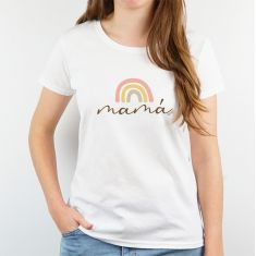 Camiseta o Sudadera Divertida Mamá Arcoiris soft