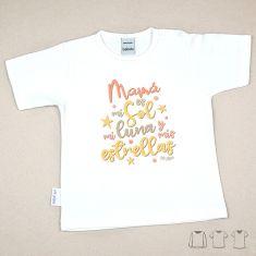 Camiseta o Sudadera Bebé y Niño/a Mamá es mi sol, mi luna y mis estrellas