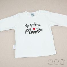 Camiseta o Sudadera Bebé y Niño/a Te quiero Mamá Caligrafía