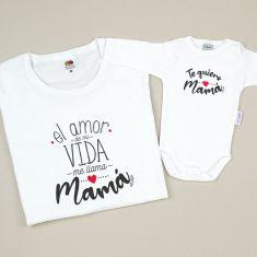 Pack 2 Prendas El amor de mi vida me llama Mamá / Te quiero Mamá