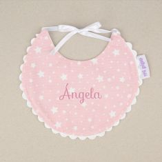 Bib Piqué Birth Pink Personalized