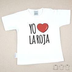 Camiseta Divertida Bebé Yo (corazón) La Roja