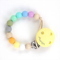 Cadenita Silicona Multicolor Soft personalizada en el clip