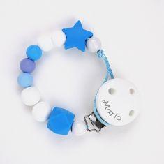 Cadenita Silicona Dora Azul personalizada en el clip