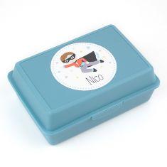 Cajita Porta Alimentos Superhéroe Azul personalizada