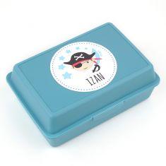 Cajita Porta Alimentos Pirata Azul personalizada