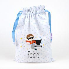 Personalized Blue Eyelashes bag