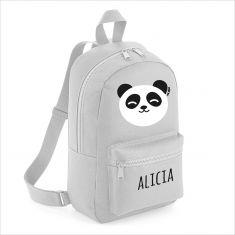 Mochila Medium Panda personalizada, color a elegir