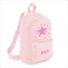Mochila Medium Estrella Rosa personalizada, color a elegir