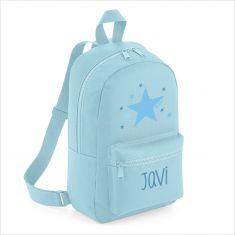 Mochila Medium Estrella Azul personalizada, color a elegir