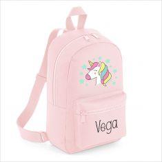 Mochila Medium Unicornio personalizada, color a elegir