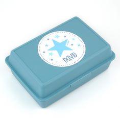 Cajita Porta Alimentos Estrella Azul personalizada