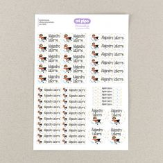 46 Personalized blue Pirate object Labels