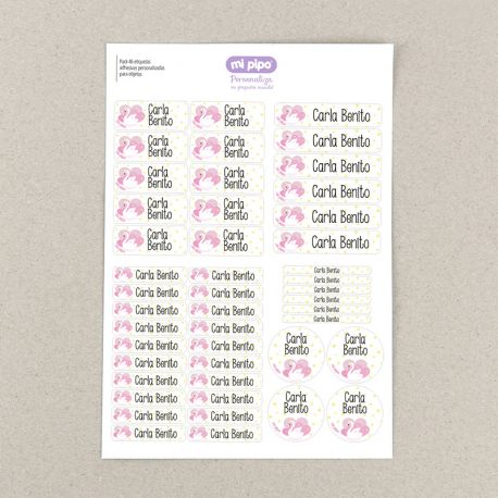 46 Personalized pink Fairy object Labels