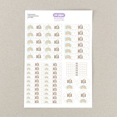 46 Personalized white Star object Labels