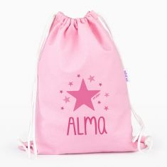 Petate Medium Lona Estrella Rosa personalizado, color a elegir