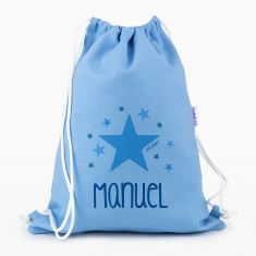 Petate Medium Lona Estrella Azul personalizado, color a elegir