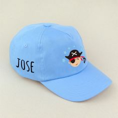 Gorra Junior Pirata Azul personalizada