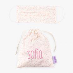 Pack Bolsita personalizada + Mascarilla sin personalizar estrellas rosa
