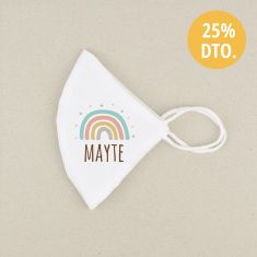 Mascarilla Higiénica reutilizable Personalizada Arcoíris Soft Color a elegir