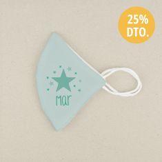 Mascarilla Higiénica reutilizable Personalizada Estrella Menta Color a elegir