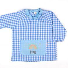 Babi Bolsillo Arcoiris Soft Azul personalizado