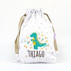 Saquito Dinosaurio personalizado