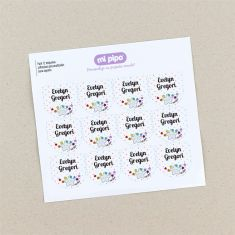 12 Personalized white star shoes Labels