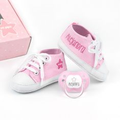 Cajita Zapatillas Rosa personalizada