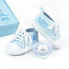 Cajita Zapatillas Azul personalizada