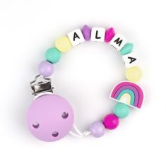 Silicone Chain Personalized Pink