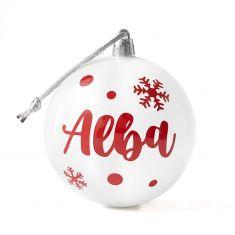Bola Navidad Blanca personalizada