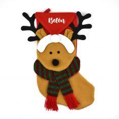 Calcetín Premium Navidad Reno personalizado