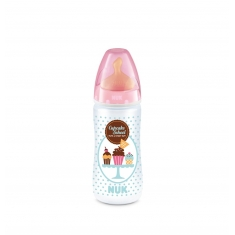 NUK Biberón Latex Cupcakes 1M 300ml 0-6M