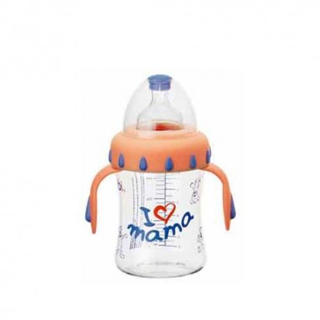 BIBI Biberón Anticólico Sensoline Mamá Pastel 125ml +0Meses