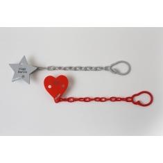 Broche Pinza Corazón Rojo Personalizado