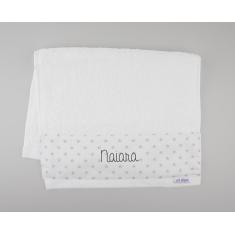 Toallita de Rizo Blanca Personalizada
