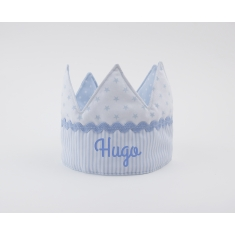 Corona Cumpleaños Azul Handmade Personalizada