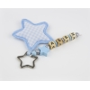Llavero Simple Figura Estrella Azul Personalizado