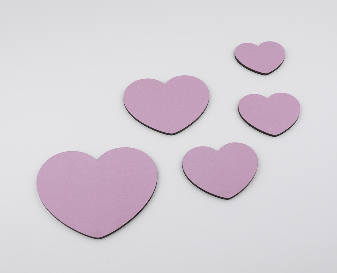Pack de 5 corazones para decorar mi pipo