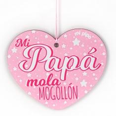 Corazón para decorar Especial Papá Rosa