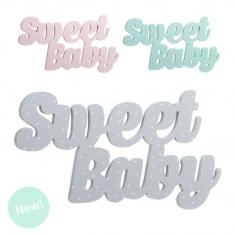 Letras de madera para colgar Sweet Baby