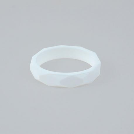 Pulsera mordedor y de lactancia de silicona blanca