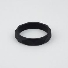Pulsera mordedor y de lactancia de silicona negra