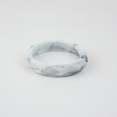 Pulsera mordedor y de lactancia de silicona mármol