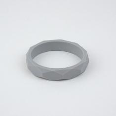 Pulsera mordedor y de lactancia de silicona gris claro