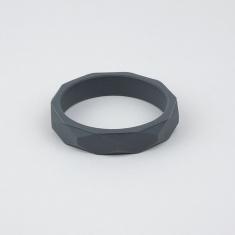 Pulsera mordedor y de lactancia de silicona gris oscuro