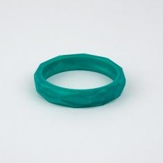 Pulsera mordedor y de lactancia de silicona verde nácar