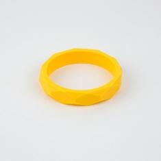 Pulsera mordedor y de lactancia de silicona amarillo